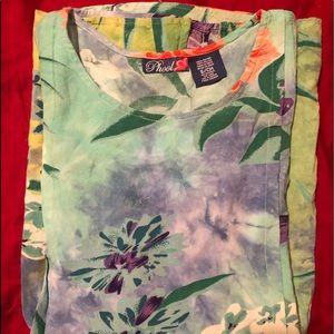 Beautiful Floral Hawaiian Print Tunic